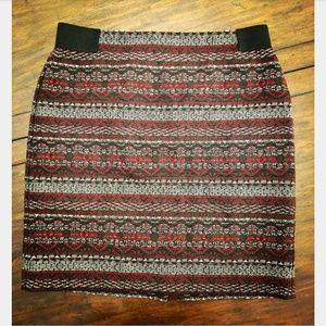 J.Jill Red & Black Skirt